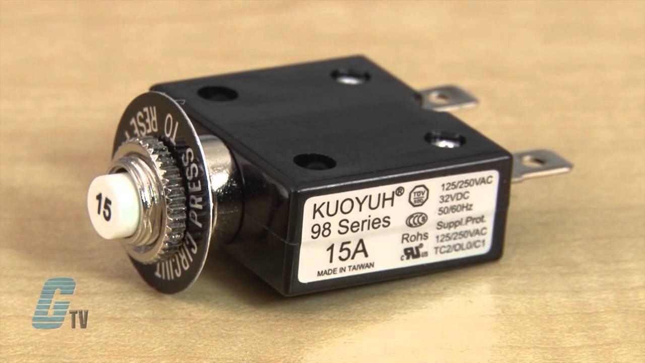 nte electronics r58 series subminiature circuit breakers [ 1280 x 720 Pixel ]