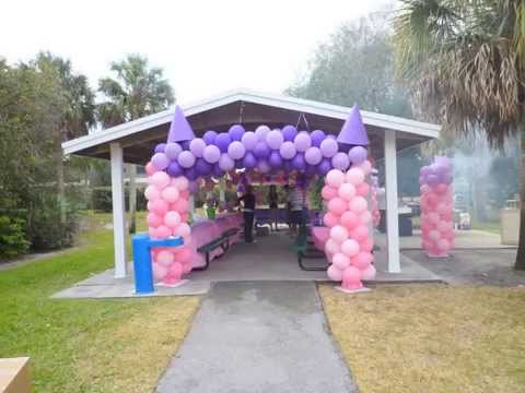 Princess theme party decoration in a park dreamark events for Amusement park decoration ideas