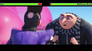 Despicable Me 3 (2017) Opening Scene with healthbars