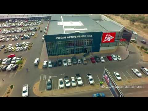 Aerial arround,Virgin Active, Gaborone shopping malls...