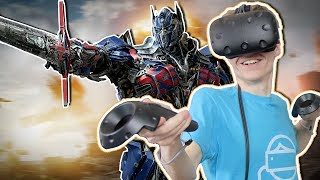 TRANSFORMERS SIMULATOR IN VIRTUAL REALITY! | VRobot VR (HTC Vive Gameplay)