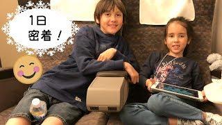 東京最後の日はヒルトンベイホテルに泊まりました。ファミリールームに...