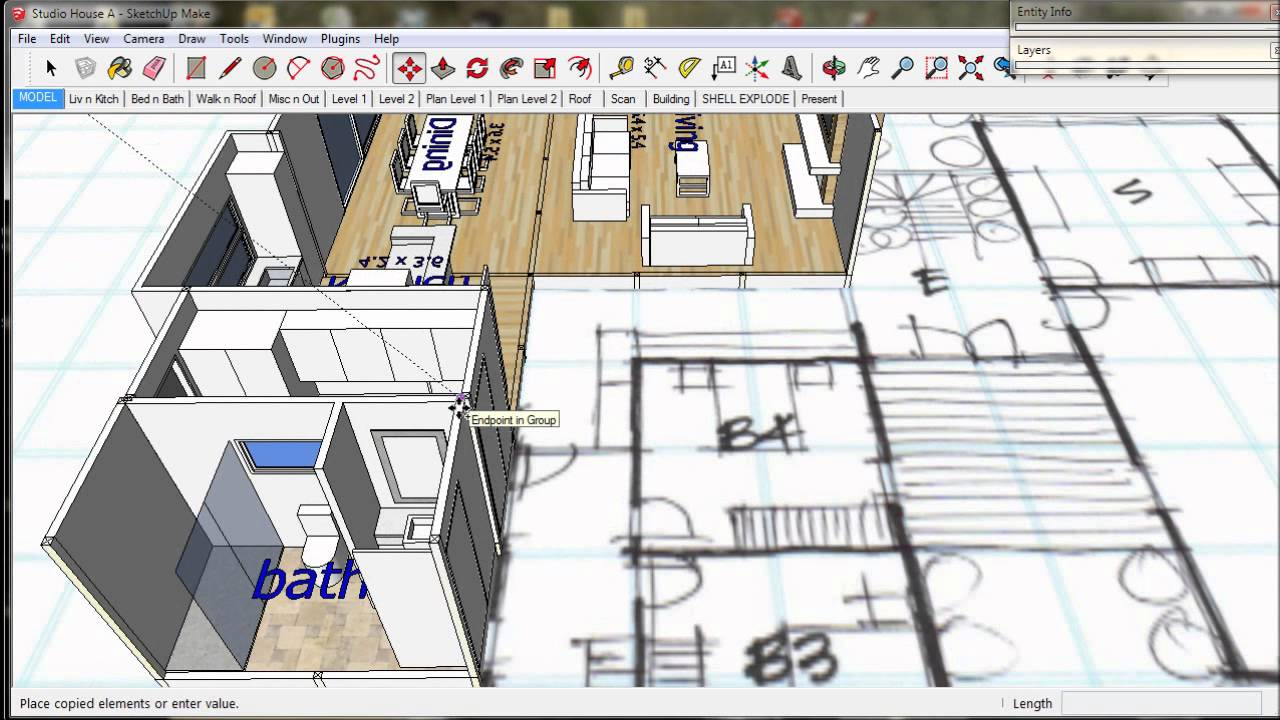 Google sketchup house plan tutorial house design plans for Google house plans