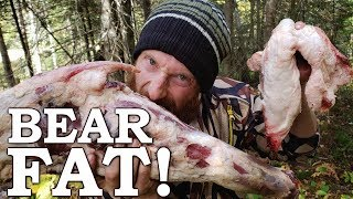 Cooking BEAR MEAT in Bear FAT in SURVIVAL CHALLENGE! Ep10