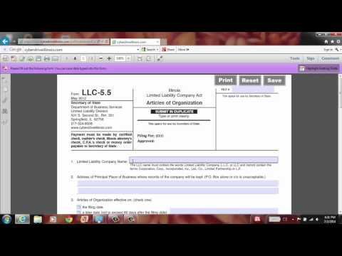 Register Your LLC (Limited Liability Company) Using Application Form