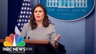 White House Press Briefing (Full) - December 11, 2017 | NBC News