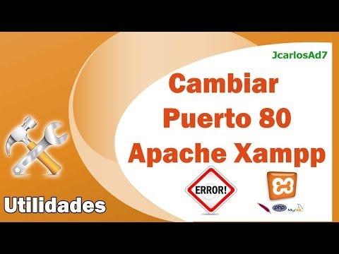 Cambiar el puerto apache en xampp - Error al Iniciar Xampp