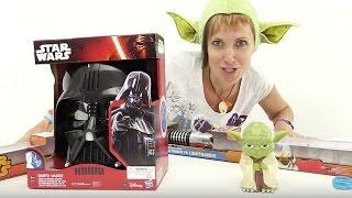 Видео распаковка и игра с игрушками Звёздные Войны.