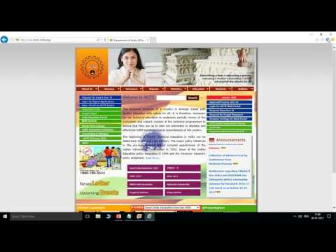 Browser Settings for AICTE WebPortal