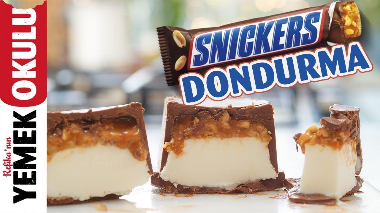 Snickers Dondurma (Challenge) Meydan Okuması | Evde Kolay ve Hızlı Snickers Tarifi