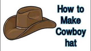 How to make cowboy hat| flexible shade| Hat diy