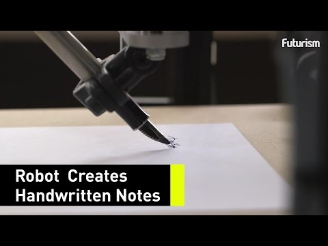 This robot can write letters in your handwriting