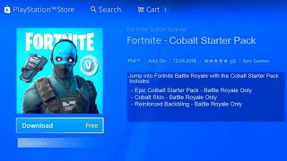 FORTNITE NEW COBALT STARTER PACK! HOW TO GET FREE COBALT SKIN IN FORTNITE! FORTNITE NEW STARTER PACK