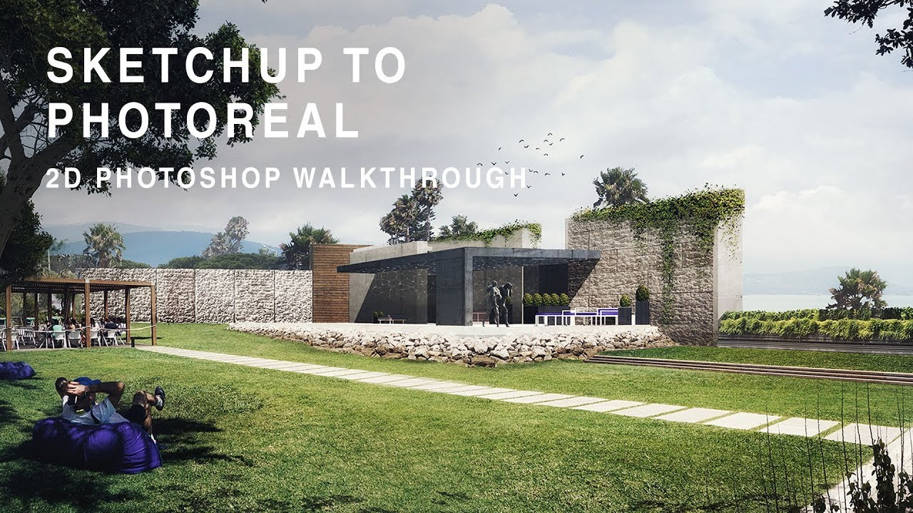 Sketchup to photoreal 2d photoshop walkthrough youtube for Rendering gratis