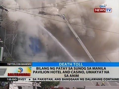 BT: Bilang ng patay sa sunog sa Manila Pavilion Hotel and Casino, umakyat na sa anim