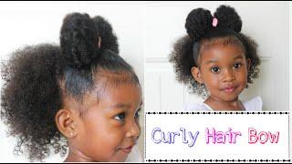 Curly Girl Hair Bow   Curly Hair Styles