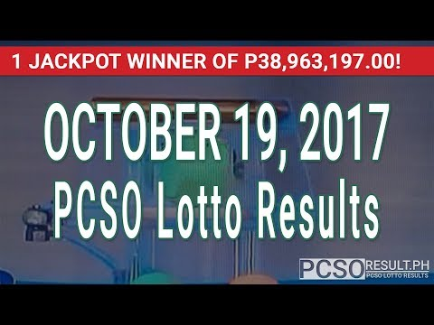 PCSO Lotto Results Today October 19, 2017 (6/49, 6/42, 6D, Swertres & EZ2)