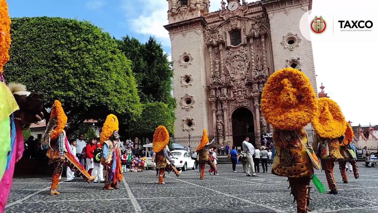 Inicio de Fiestas Patronales de Santa Prisca y San Sebastián, con danzas de Mochitlan Guerrero.