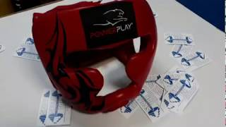 Тренировочный боксерский шлем Power Play. С защитой скул , щек и подбородка. Обзор