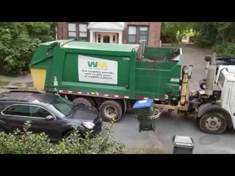 A robotic garbage truck in Providence, Rhode Island