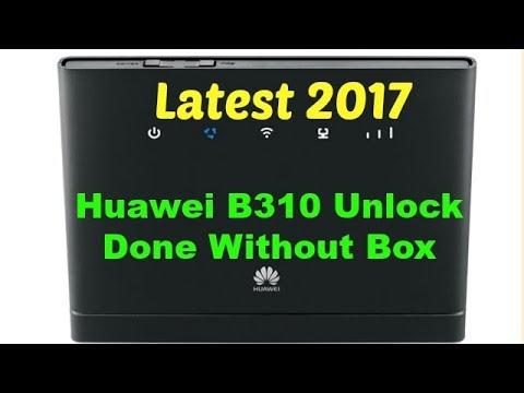 Huawei B310 Unlock Done Without Box