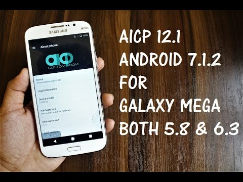 Android 7.1.2 For Galaxy Mega (Both 5.8 & 6.3) ft. Galaxy J7 😂