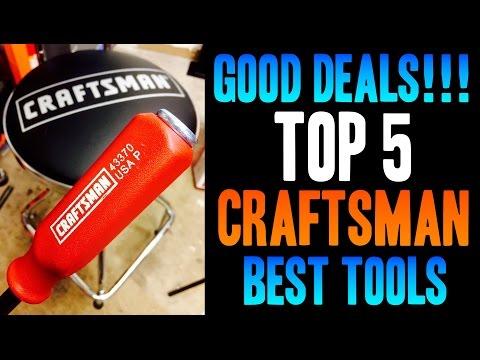 Top 5 BEST Craftsman / Sears Tools -- GOOD DEALS!!