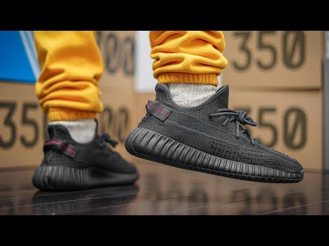 I Don't Get It... | Yeezy 350 V2 Black Static Non Reflective ON FEET REVIEW