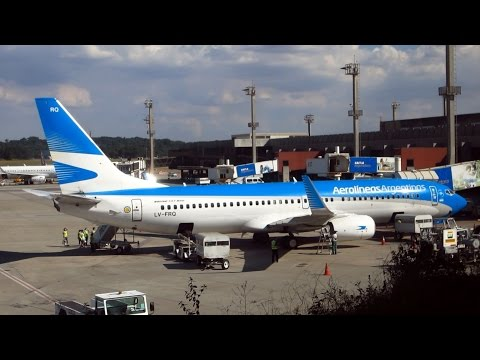 Boeing 737-800 SKY INTERIOR Aerolíneas Argentinas - São Paulo - B. Aires + imágenes de Buenos Aires