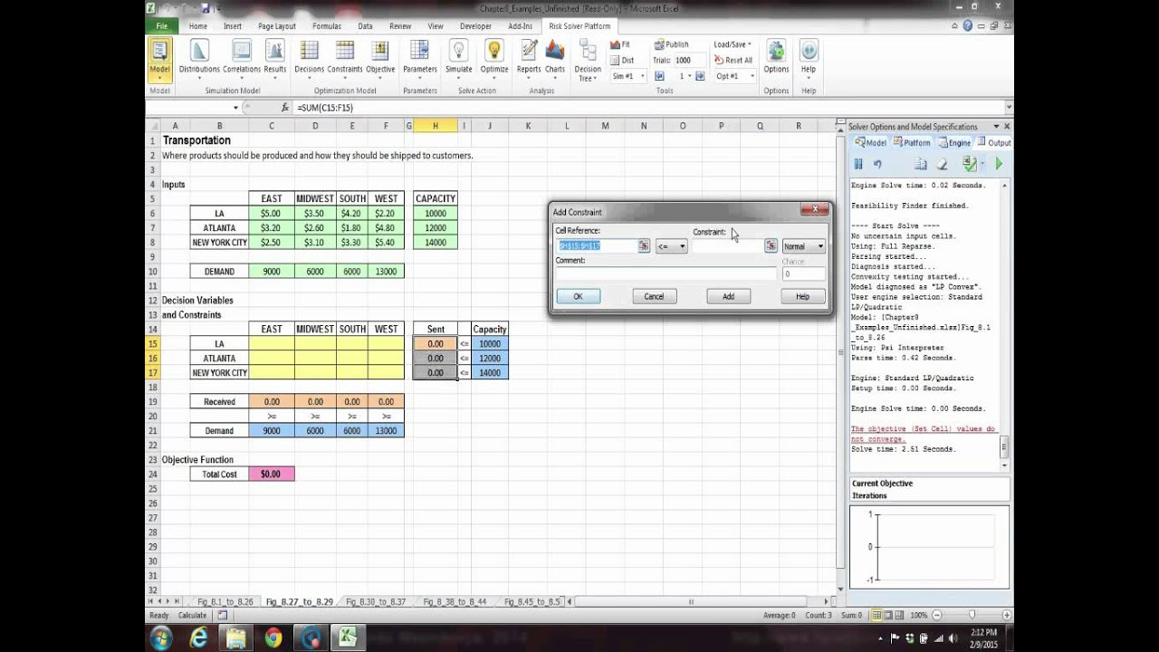 developing spreadsheet based decision support systems video fig 827 to 829