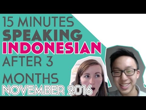 15 Minutes Speaking Indonesian After 3 Months║Lindsay Does Languages Video