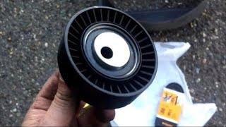 Замена ремня ГУР двигателя BMW m43.