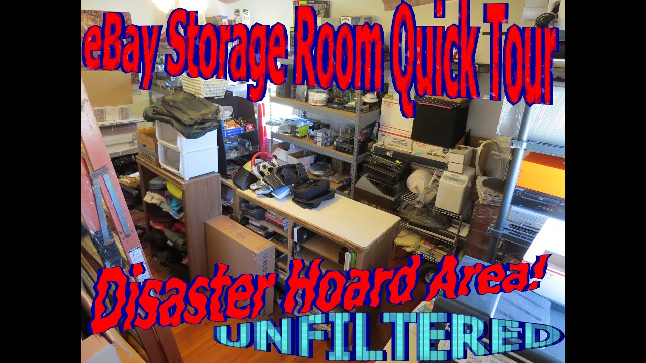 ebay home office. EBay Storage Room Quick Tour @ Home Office (Hoard Area Disaster Mess) - YouTube Ebay Y