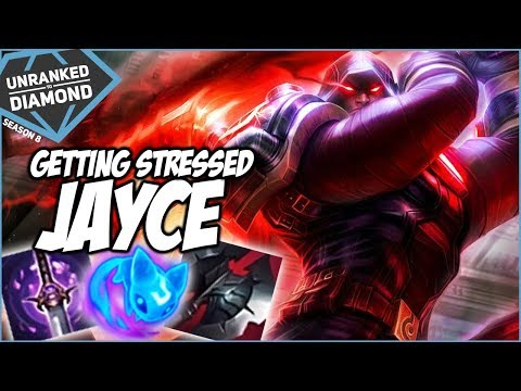GETTING STRESSED ON JAYCE - Unranked to Diamond - Ep. 33   League of Legends
