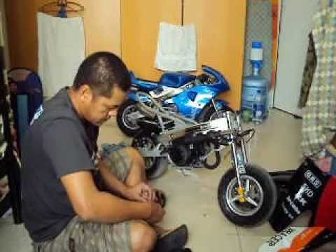 pocket bike set up youtube. Black Bedroom Furniture Sets. Home Design Ideas
