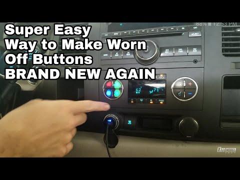 Worn & Peeling Automotive Button Repair Chevrolet Silverado Sierra Tahoe Suburban Escalade Flaking