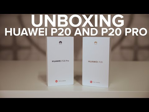Unboxing the Huawei P20 and P20 Pro