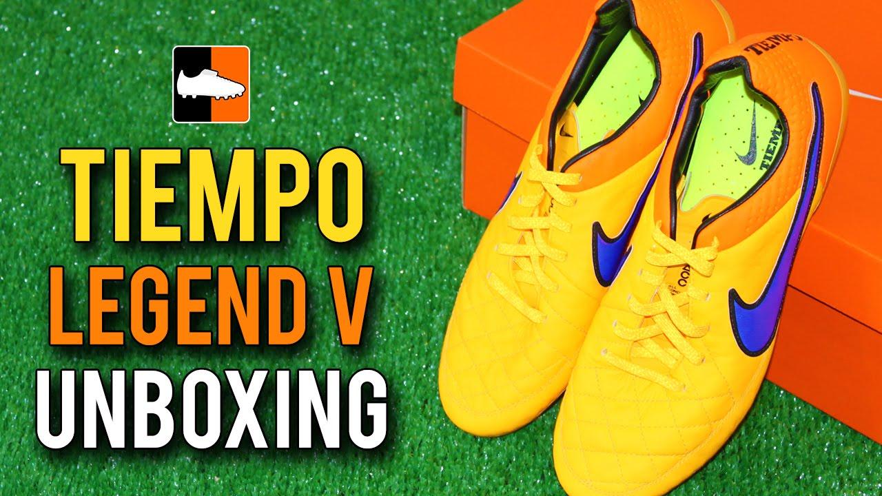 a1aa3d5ef0ff Nike Orange/Purple Tiempo Legend V Unboxing - Andrea Pirlo & Sergio ...