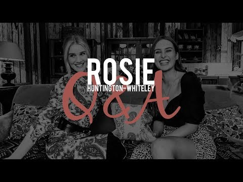 Q&A With Rosie Huntington-Whiteley