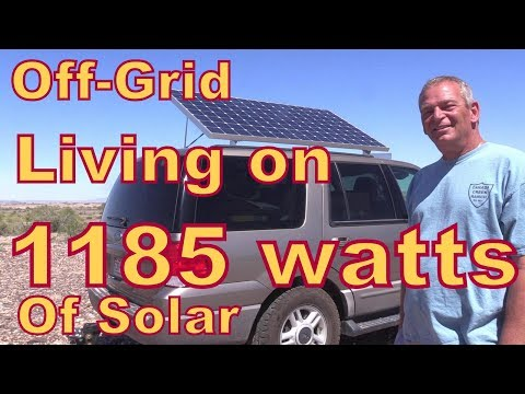Meet Jim Who Lives off-Grid with 1185 Watts of Solar