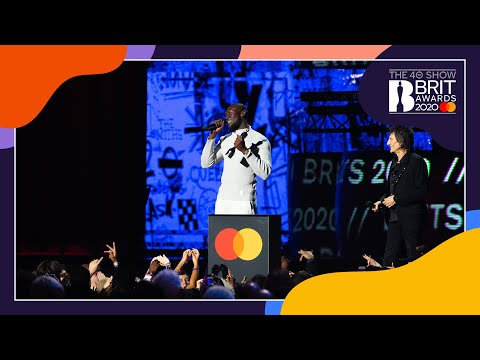 Stormzy wins Male Solo Artist   The BRIT Awards 2020