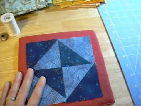 Making a quilted hot plate
