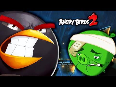 Angry Birds 2 ЗЛОЙ БОМБ против СВИНЕЙ Мультик игра для детей про злых птичек