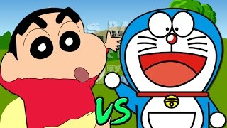 vuclip Shin Chan vs Doraemon. Épicas Batallas de Rap del Frikismo | Keyblade ft. Cyclo