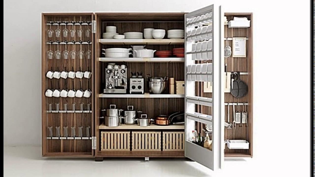Kitchen crockery almirah design - YouTube