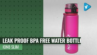 Ion8 Slim Leak Proof BPA Free Water Bottle, 500ml (18 Oz), Choose Your Color For 2019