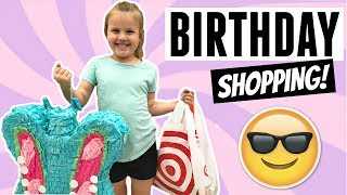 FUN BIRTHDAY SHOPPING TRIP! PICKING OUT HER OWN BIRTHDAY PRESENTS?!