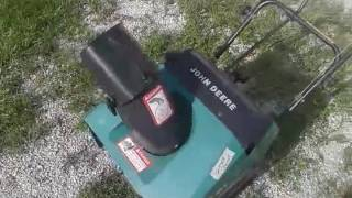 John Deere TRS 21 snow blower cold start