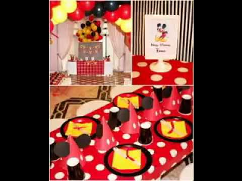 Decoration ideas mickey mouse party decorations youtube for Deco mickey