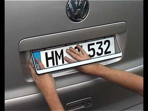 Installation of Registration Number Plate Frame Holder Surrond - YouTube & Installation of Registration Number Plate Frame Holder Surrond ...